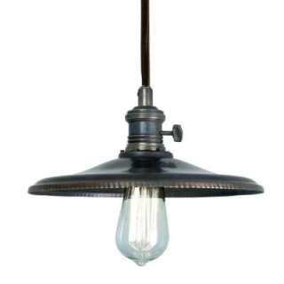 Home Decorators Collection 1 Light Bronze Saucer Pendant Light 25399
