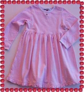 NWOT Baby Girl TOMMY HILFIGER Knit Dress Pink White