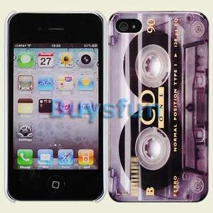 look Cassette Hard Cover Case Skin for Apple iPhone 4 4G 4S