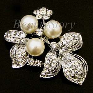 ADDL Item  rhinestone crystal bouquet flower brooch pin