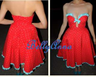 Pinup Rockabilly Swing Club Evening Cocktail Party Prom Dress