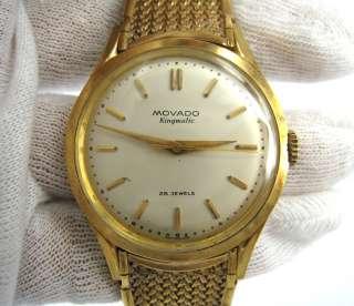 Movado Kingmatic 28 Jewel Automatic 18K Rose Gold Mens Watch