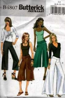 Butterick 4807 Sewing Pattern Womens Pants 6 8 10 12
