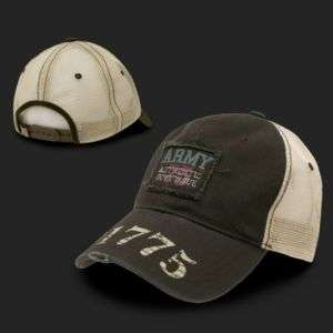 Brown Vintage Mesh US Army Trucker Cap Caps Hat Hats
