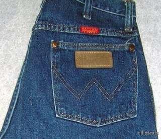 Womens Sz 7 Wrangler Jeans Straight Leg Dark Blue 28x36