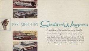 1961 Mercury Station Wagon Sales Brochure Colony Park