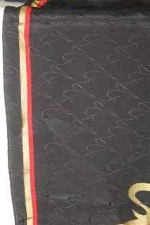 Rare Maxims De Paris Logoed Black Red Gold Unfinished Edge Oblong