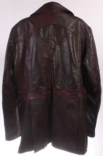MENS VTG SOFT LEATHER HIPSTER/MOD JACKET/BLAZER sz M