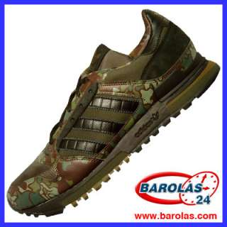 018136 Adidas ZX 600 Army Green Black Running Trainers
