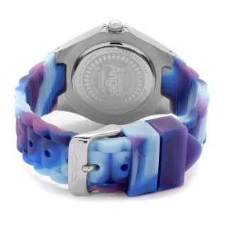 Invicta Womens Angel Quartz Stainless Steel Blue Multi Color Silicone