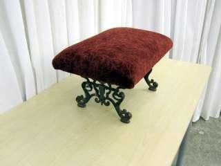 Antique Cast Iron Footstool Bedside Step Art Deco 1800s
