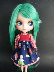Neo Blythe Outfit Clothing Handmade Cloth Basaak dress #007