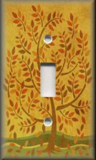 Light Switch Plate Cover   Folk Art   Country Fall Tree