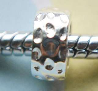 925 SILVER BEAD EUROPEAN CHARM Y10 SPACER RING DOT