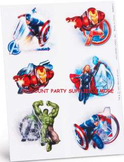 The Avengers Marvel Heroes Temporary Tattoos Party Favors