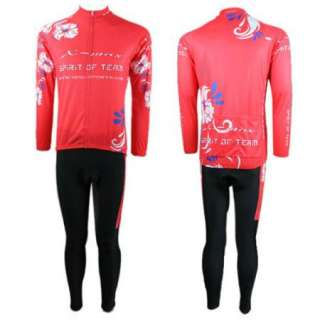 Cycling Bike Women Bicycle Long Sleeve Clothing Red Sports Wear
