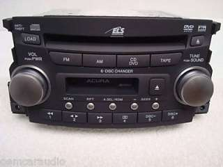 Acura on 04 05 06 Acura Tl Radio 6 Disc Dvd Cd Changer Cassette 1tb1 Oem