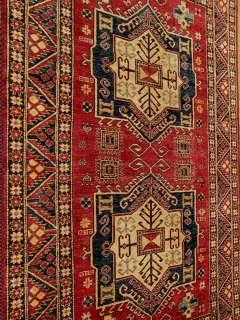 Handmade Vegetable Dye Hand Spun Gazni Wool Fine Afghan Kazak New Rug