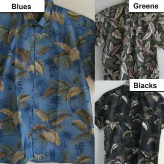 New Mens Casual Hawaiian Shirts Tropical Leaf Print Button Resortwear