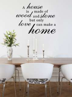 FAMILY HOME LOVE QUOTE VINYL WALL DECAL STICKER ART WORDS HOME DECOR