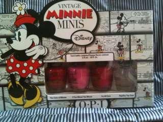 polish vintage minnie mouse disney MINI set 4 different colors