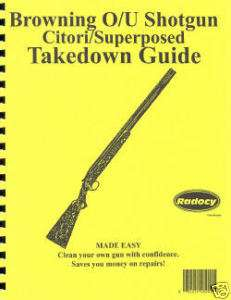 Browning Over/Under OU Shotgun Takedown Guide Radocy