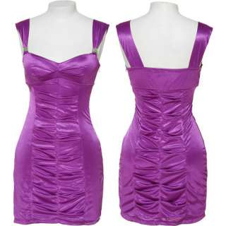 LOVE TEASE Stretch Pleated Party Dress (Orchid)