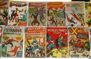 Golden Silver Bronze Age Comic Collection Lot Marvel DC Spider Man