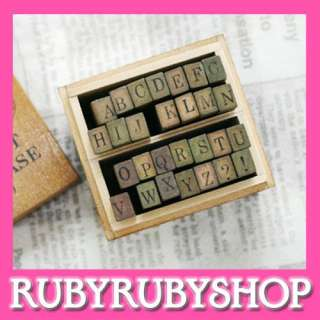 Funnyman] Antique School Book Alphabet Rubber Stamp