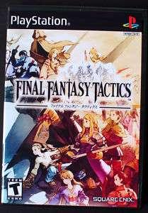 Final Fantasy Tactics PS1 Custom Game Case *NO GAME*