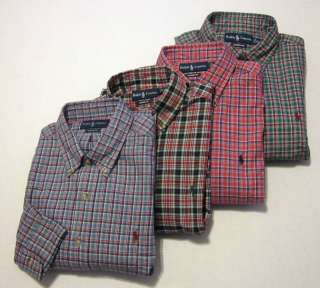 Polo Ralph Lauren Mens Casual Button Front Classic Fit Plaid Shirt