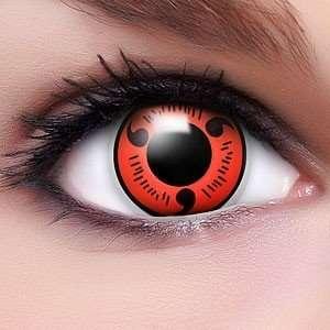 Farbige Anime Crazy Fun Sharingan Kontaktlinsen Naruto mit gratis