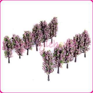 Lot 20 Model Trees Pink Flower Street Park Building Scenery Layout