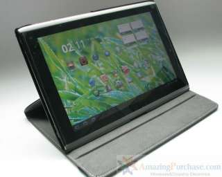 Stand Leather Case Angle Adjustable for Acer Iconia Tab A500 + Screen