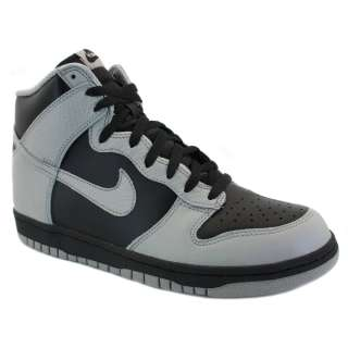 Nike Dunk High Leather Mens High Top Trainers Black Grey