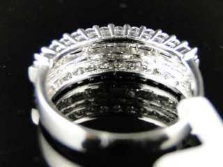 WHITE GOLD DIAMOND WEDDING FASHION ROUND BAND RING 1.0 CT