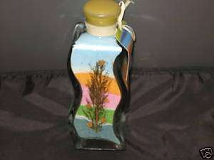 NEW Unique Decorative Sand Art Bottle Bush Blue Pink |