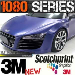 30cmx100cm 3M 1080 NEW SERIES BLUE BRUSHED STEEL FIBRE FILM VINYL CAR