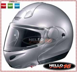 CASCO MODULARE NOLAN N100 E N100E GENESIS ARGENTO CROMATO 85 TAGLIA XL