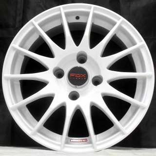15 CITROEN C3 10> 4 STUD FOX FX004 WHITE ALLOY WHEELS 4x108
