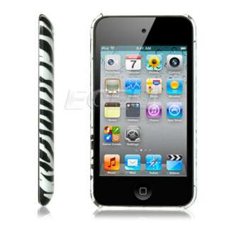 BLACK ZEBRA DESIGN HARD BACK CASE FOR iPOD TOUCH 4 4G
