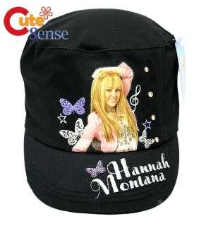 Disney Hannah Montana Military Cap HatBlack with Stone