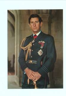 p3187   Prince Charles in air force uniform   Royalty postcard