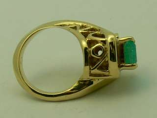 Custom Made Colombian Emerald & Gold Ring 2.50cts