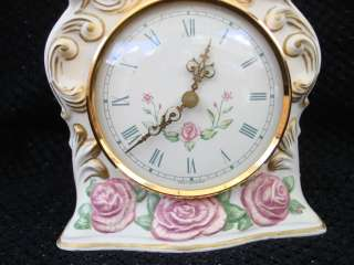 Franklin Mint The First Embrace Porcelaine Mantle Clock
