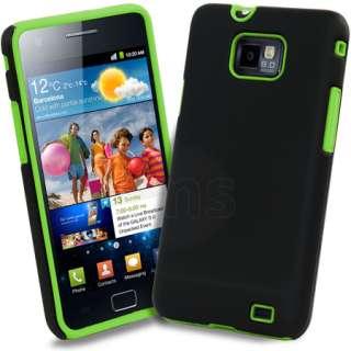 Magic Store   Green Hybrid Silicone Case for Samsung Galaxy S2 I9100