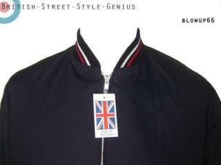MONKEY JACKET   Classic 60s Mod Style   MADE IN ENGLAND   Navy Blue
