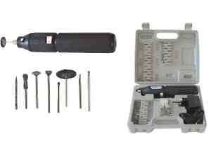 KIT SET MINITRAPANO MINI TRAPANO A BATTERIA VALIGETTA 60 ACCESSORI