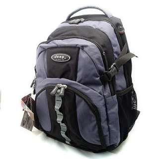 Super JEEP Rucksack Backpack Laptop Grey/blk PH802 New