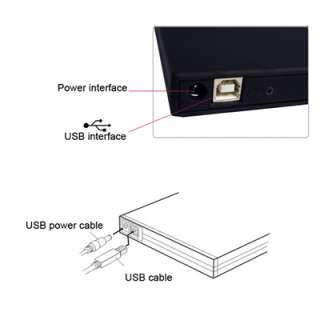 External Slot in USB DVD ROM CD RW Drive for PC Laptop